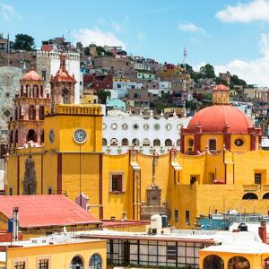 ¡Viva Mexico! Square Collection - Guanajuato Church Domes V by Philippe Hugonnard