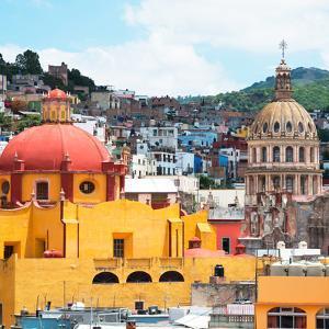 ¡Viva Mexico! Square Collection - Guanajuato Church Domes by Philippe Hugonnard