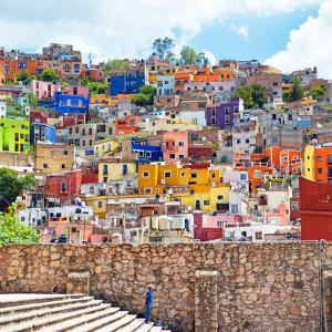 ¡Viva Mexico! Square Collection - Guanajuato Colorful City by Philippe Hugonnard