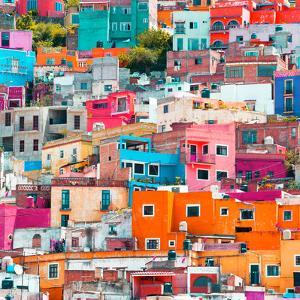 ¡Viva Mexico! Square Collection - Guanajuato Colorful Cityscape XIX by Philippe Hugonnard