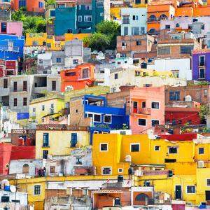 ¡Viva Mexico! Square Collection - Guanajuato Colorful Cityscape XVII by Philippe Hugonnard