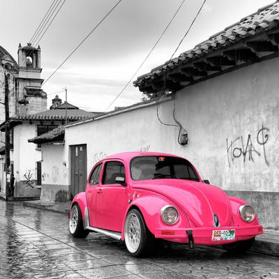 Square Collection   Hot Pink VW Beetle Car In San Cristobal De Las  CasasPhilippe Hugonnard