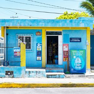 "¡Viva Mexico! Square Collection - ""La Esquina"" Blue Supermarket - Cancun by Philippe Hugonnard"