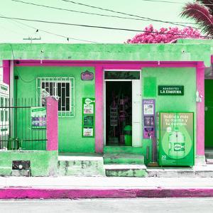 "¡Viva Mexico! Square Collection - ""La Esquina"" Green Supermarket - Cancun by Philippe Hugonnard"