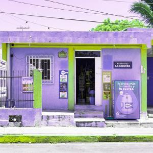 """¡Viva Mexico! Square Collection - """"La Esquina"""" Purple Supermarket - Cancun by Philippe Hugonnard"""