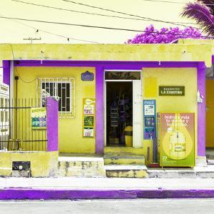 "¡Viva Mexico! Square Collection - ""La Esquina"" Yellow Supermarket - Cancun by Philippe Hugonnard"