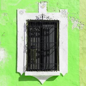 ¡Viva Mexico! Square Collection - Lime Green Wall & Black Window by Philippe Hugonnard
