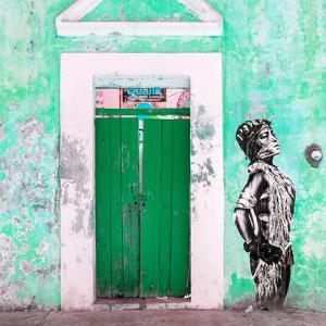 ¡Viva Mexico! Square Collection - Main entrance Door Closed VI by Philippe Hugonnard