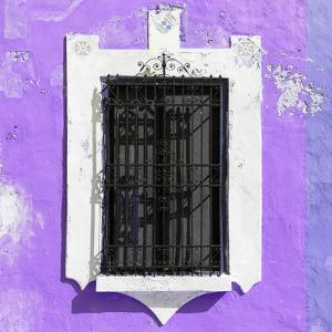 ¡Viva Mexico! Square Collection - Mauve Wall & Black Window by Philippe Hugonnard