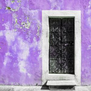 ¡Viva Mexico! Square Collection - Mauve Wall of Silence by Philippe Hugonnard