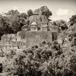 ¡Viva Mexico! Square Collection - Mayan Pyramid of Calakmul II by Philippe Hugonnard