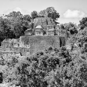 ¡Viva Mexico! Square Collection - Mayan Pyramid of Calakmul IV by Philippe Hugonnard