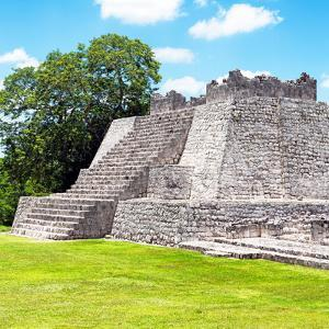 ¡Viva Mexico! Square Collection - Mayan Ruins - Edzna II by Philippe Hugonnard