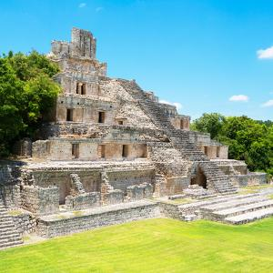 ¡Viva Mexico! Square Collection - Mayan Ruins - Edzna VIII by Philippe Hugonnard
