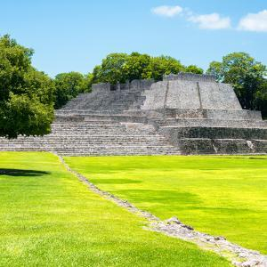 ¡Viva Mexico! Square Collection - Mayan Ruins in Edzna I by Philippe Hugonnard