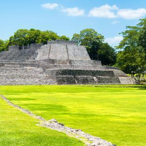 ¡Viva Mexico! Square Collection - Mayan Ruins in Edzna II by Philippe Hugonnard