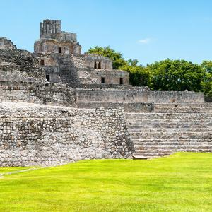¡Viva Mexico! Square Collection - Mayan Ruins in Edzna III by Philippe Hugonnard
