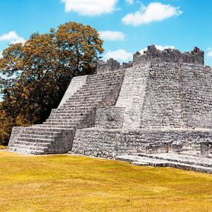 ¡Viva Mexico! Square Collection - Mayan Ruins with Fall Colors - Edzna II by Philippe Hugonnard