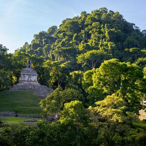 ¡Viva Mexico! Square Collection - Mayan Temple at Sunrise by Philippe Hugonnard