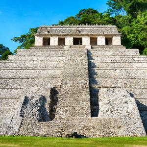 ¡Viva Mexico! Square Collection - Mayan Temple of Inscriptions in Palenque IV by Philippe Hugonnard