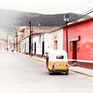 ¡Viva Mexico! Square Collection - Mexican Street with Tuk Tuk by Philippe Hugonnard