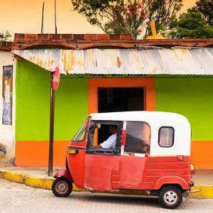 ¡Viva Mexico! Square Collection - Mexican Tuk Tuk by Philippe Hugonnard