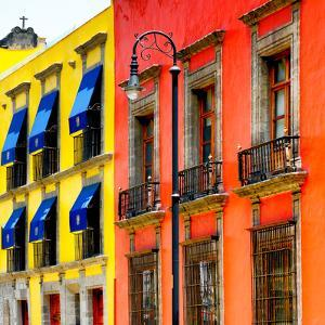 ¡Viva Mexico! Square Collection - Mexico City Colorful Facades II by Philippe Hugonnard