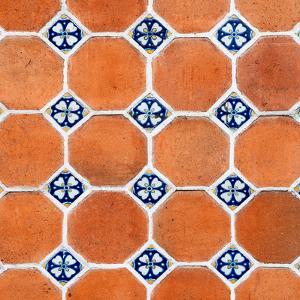 ¡Viva Mexico! Square Collection - Mosaics Orange Bricks by Philippe Hugonnard