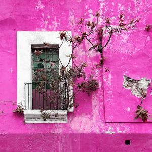 ¡Viva Mexico! Square Collection - Old Deep Pink Facade II by Philippe Hugonnard