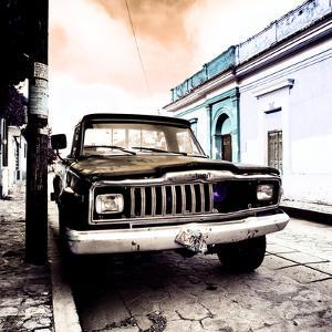 ¡Viva Mexico! Square Collection - Old Jeep in the street of San Cristobal VII by Philippe Hugonnard