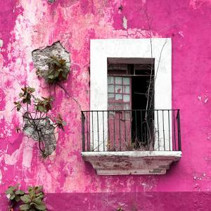 ¡Viva Mexico! Square Collection - Old Pink Facade by Philippe Hugonnard
