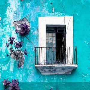 ¡Viva Mexico! Square Collection - Old Turquoise Facade by Philippe Hugonnard