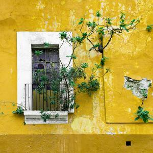 ¡Viva Mexico! Square Collection - Old Yellow Facade II by Philippe Hugonnard