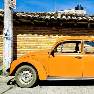 ¡Viva Mexico! Square Collection - Orange VW Beetle Car by Philippe Hugonnard