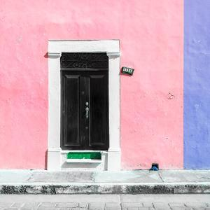 ¡Viva Mexico! Square Collection - Pale Violet and Purple Facade - Campeche by Philippe Hugonnard