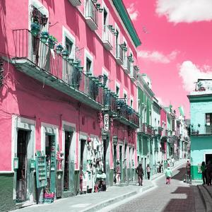 ¡Viva Mexico! Square Collection - Pink Street in Guanajuato by Philippe Hugonnard