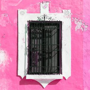 ¡Viva Mexico! Square Collection - Pink Wall & Black Window by Philippe Hugonnard