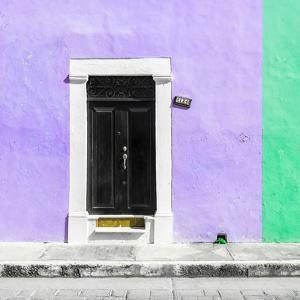 ¡Viva Mexico! Square Collection - Purple and Coral Green Facade - Campeche by Philippe Hugonnard
