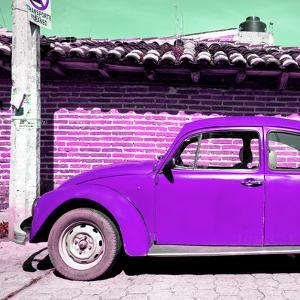 ¡Viva Mexico! Square Collection - Purple VW Beetle Car by Philippe Hugonnard