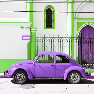 ¡Viva Mexico! Square Collection - Purple VW Beetle in San Cristobal by Philippe Hugonnard