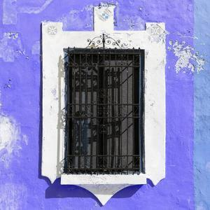 ¡Viva Mexico! Square Collection - Purple Wall & Black Window by Philippe Hugonnard