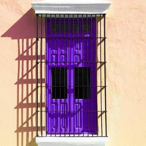 ¡Viva Mexico! Square Collection - Purple Window in Campeche by Philippe Hugonnard