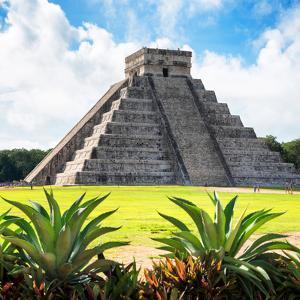 ¡Viva Mexico! Square Collection - Pyramid Chichen Itza VIII by Philippe Hugonnard