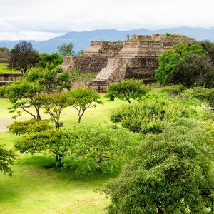 ¡Viva Mexico! Square Collection - Pyramid Maya of Monte Alban IV by Philippe Hugonnard