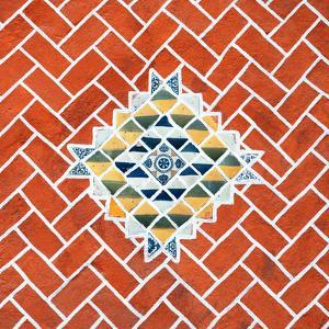¡Viva Mexico! Square Collection - Red Mosaics by Philippe Hugonnard