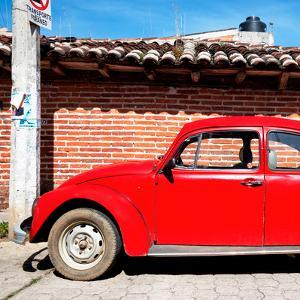 ¡Viva Mexico! Square Collection - Red VW Beetle Car by Philippe Hugonnard