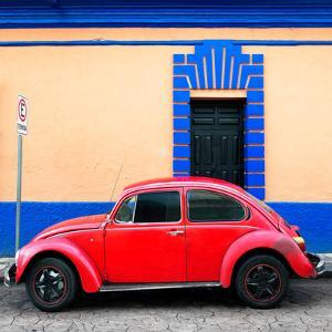 ¡Viva Mexico! Square Collection - Red VW Beetle - San Cristobal by Philippe Hugonnard