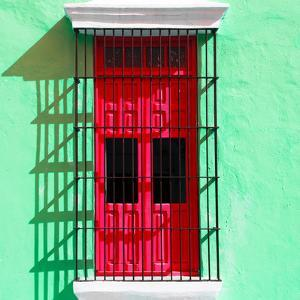 ¡Viva Mexico! Square Collection - Red Window in Campeche by Philippe Hugonnard