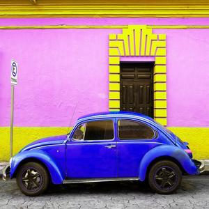 ¡Viva Mexico! Square Collection - Royal Blue VW Beetle - San Cristobal by Philippe Hugonnard