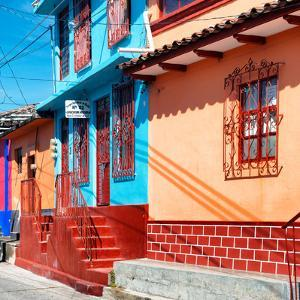 ¡Viva Mexico! Square Collection - San Cristobal Color Houses by Philippe Hugonnard